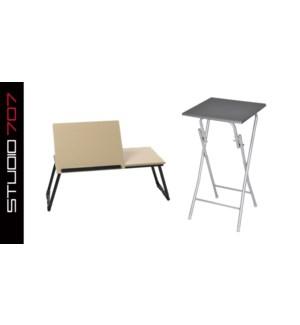 PLIER BED PLATEAU & TABLE CADRE BLANC