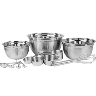 12PCS Mixing and measure set Stainless 6set/MC