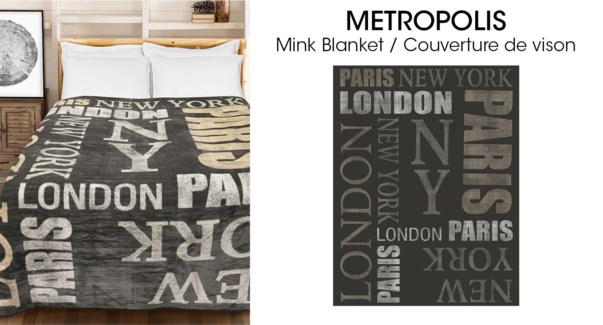 Micro Mink couverture Metropolis 78*94 3/b
