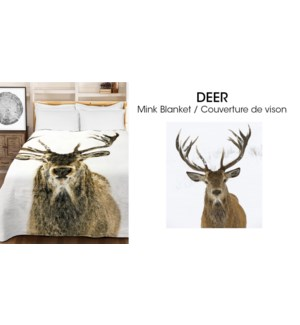 Couvertures en micro vison Deer 78*94 3/b
