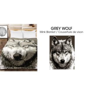 Couvertures en micro vison wolf gris  78*94 3/b