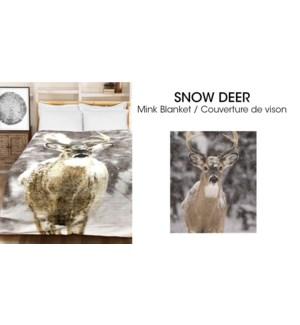 Couvertures en micro vison Cerf des neiges 78*94 3/b