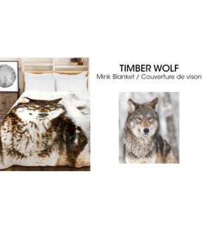 Couvertures en micro vison Loup de bois 78*94 3/b