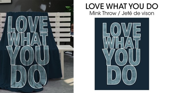 Micro Mink jette Love what you do 50*60 3/b