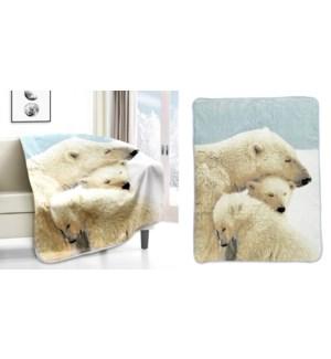 Jette en micro vison polar bear cubs 50*60 3/b
