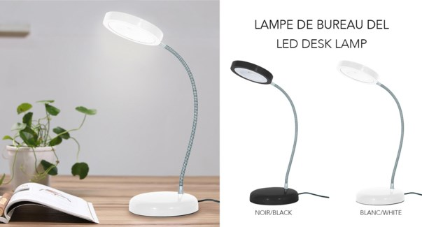 LED Desk Lamp ASS Blk/Whi- 8B