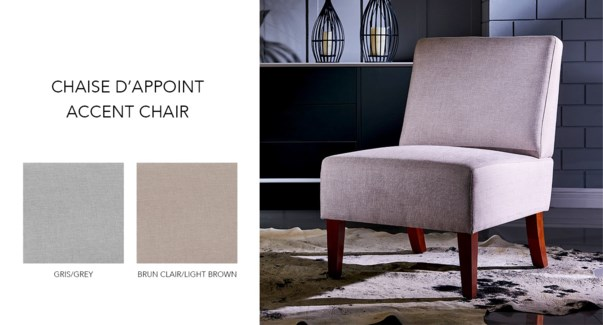 OCCASSIONAL ACCENT CHAIR WITH GREY FABRIC 56X73.5X84CM