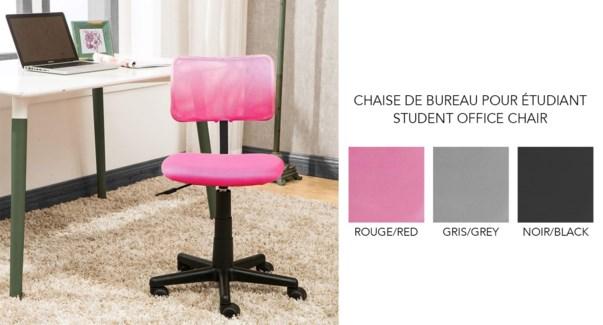 STUDENT Office Chair W/BLACK MESH-GASLIFFT  43X50X74-86CM
