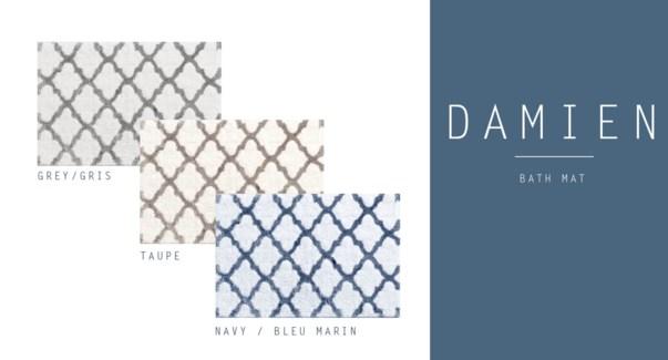 MIDNIGHT BLUE DAMIEN TAPIS DE BAIN ASST 20x30 12B