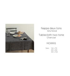 Morris Two Tone Melange-Charcol-60x84-TABLECLOTH