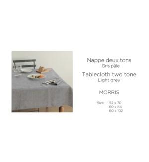 Morris Two Tone Melange-Gris Pale-52 x 70-TABLECLOTH