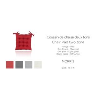 Morris Two Tone Melange-Charcol-16x16-CHAIR PAD