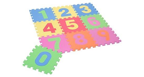 Nombre Interlocking Mat - 9PC Set 30x30x1CM 12/B
