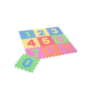 Nombre Interlocking Mat - 9PC Set 30x30x1CM 12/B