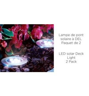 Lampe de terrasse solaire 4 LED - 11.8x13.2 - 12B