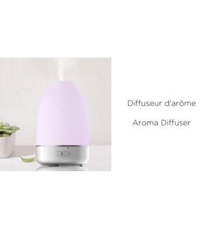 Diffuseur Aroma LED Blanc - 100ML 9.2x9.2x14.5 - 8B