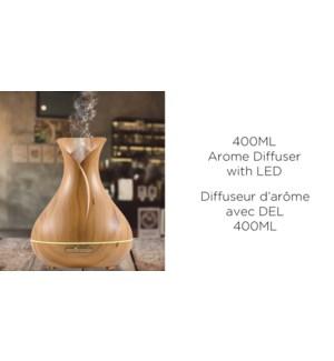 "Diffuseur d'ar""me 400ML avec LED - NATUREL - 6B"