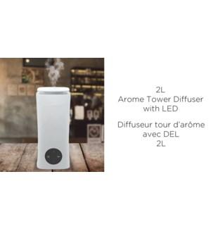 Diffuseur LED 2L - 15x34CM - Blanc - 6B