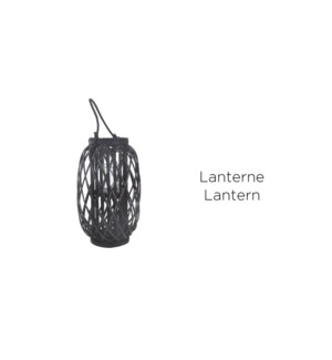 Lantern Black 45'' w/Glass - 2B