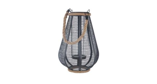 Lanterne … cage avec jute 17x17x28-6b
