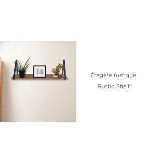 EtagŠre Murale Rustique En Chˆne - 68.5x17.5x21 - 6B