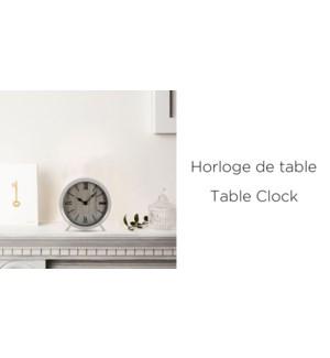 Horloge De Table En Bois Blanc 15x4x16.5-8B