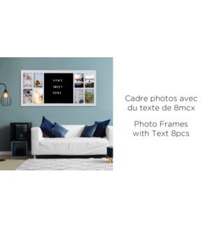 8 cadres avec texte 15x4x16.5- - Noir - 8B