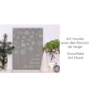 Joie Amour Art mural flocon de neige 40x60 - 8b