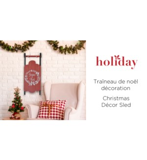 Joyeux Noel D'cor TraŒneau - Rouge - 58x22.3x6 - 4B