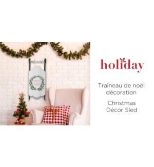Joyeux Noel D'cor TraŒneau Blanc - 58x22.3x6 - 4B