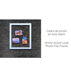 Cadre de cadre photo en similicuir 55x45 blanc-8B
