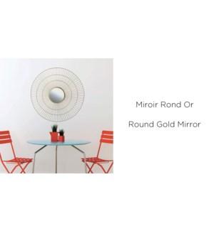 Miroir Rond Or 50x50 - 8B