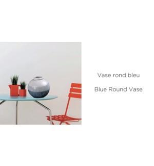 Vase Rond Bleu 15x14-12B