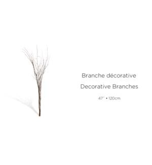 Lot de branches d'coratives - 120CM - Bois brun - 8B