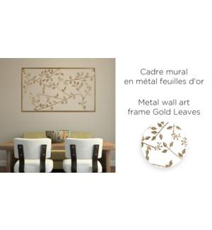 Cadre mural en m'tal Gold Leaves 33x55 - 6B
