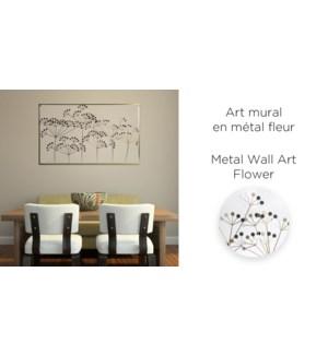 Art de mur en m'tal fleur 65x110 - 6b