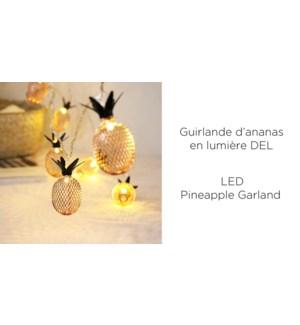 """Guirlande d'ananas 10LED - 4CM - Or / Vert - 12B"