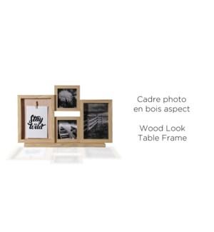 Cadre de table 4 aspect bois photo-naturel - 28x44x7 - 6B