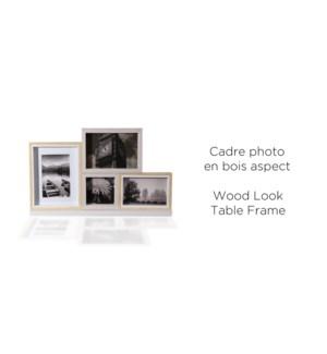 Cadre de table 4 Photo-2 couleur ton aspect bois - 28x45x6CM