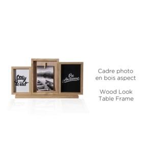 Cadre de table 4 aspect bois photo-rustique - 24x44x7 - 6B