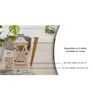 Lanterne en bois 14x14x30 - 6B