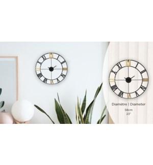 Horloge Chiffre Romain M'tal Noir / Or - 58x58x2 - 6B