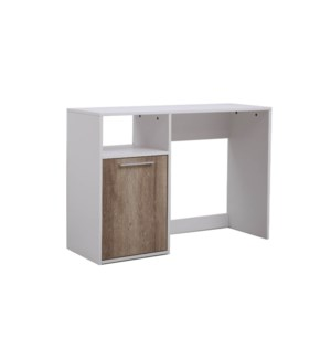 MELAMINE WRITING DESK 110X390X76CM WHITE