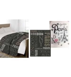 Micro Mink Couverture Paris j'ai adore 60*80 3/b