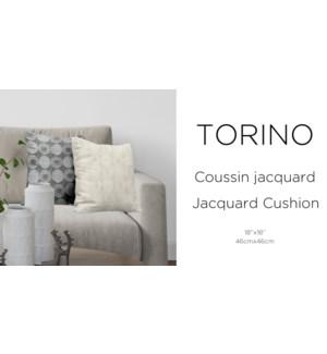 TORINO jacquard cushion 18x18 asst. 12/b