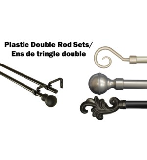 ENSEMBLE DE TRINGLES DOUBLE EN PLASTIQUE 66x120 6B