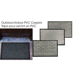 PVC CARPET ASST. 50X80CM 8/B
