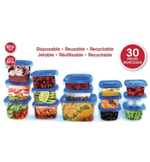 LOT DE 30 BOITES ALIMENTAIRES JETABLE / RECYCLABLE / REUTILI