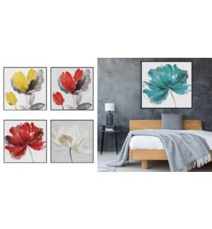 Fleur encadr'e de toile - 100x100-5B