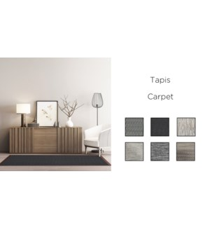 Tapis PVC/20  ASST. 60X90CM 12/B